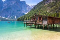 Lake Lago di Braies Royalty Free Stock Photo