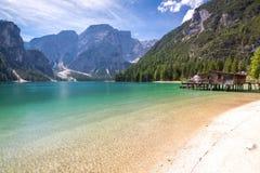 Lake Lago di Braies Stock Image