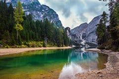 Lake Lago di Braies Stock Photos