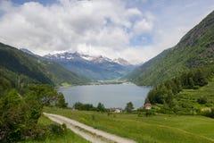 Lake Lago di Poschiavo swiss Royalty Free Stock Photos