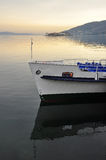 Lake (lago) Maggiore, Italy. Borromeo islands and ferry Stock Images