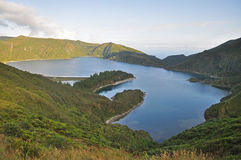 Lake Lagoa do Fogo on the island of San Miguel Royalty Free Stock Photography