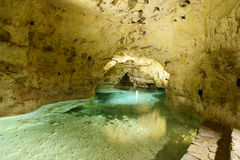 Lake in Lake cave in Tapolca. Hungary Stock Photos