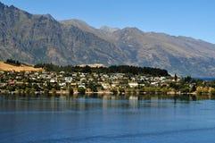 Lake Lake Wakatipu near Queenstown, New Zealand Royalty Free Stock Images