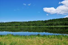 Lake landscape. A beautiful lake in Inner Mongolia  China Royalty Free Stock Image