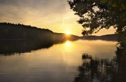 Lake landscape. Polish lake (in Mazury) landscape Stock Images