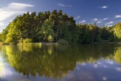 Lake landscape. Polish lake (in Mazury) landscape Stock Photos