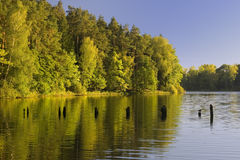 Lake landscape. Polish lake (in Mazury) landscape Royalty Free Stock Photo