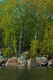 Lake landscape. Calm looking finnish lake landscape Stock Image