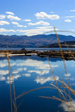 Lake landscape 4. Lake and mountain view in a sunny day Royalty Free Stock Photo