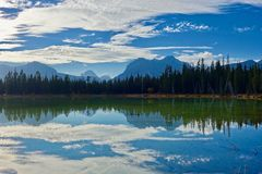 Lake landscape Stock Images