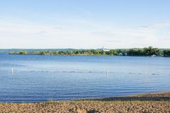 Lake landscape in Canada royalty free stock images