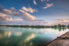 Lake   landscape central Asia Royalty Free Stock Images