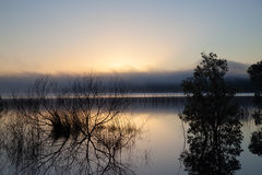 Lake landscape in the evening Royalty Free Stock Image