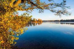 Lake landscape at fall Royalty Free Stock Photos