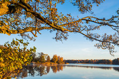 Lake landscape at fall Stock Images