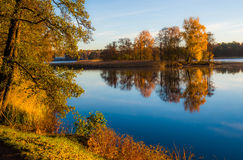 Lake landscape at fall Stock Photography
