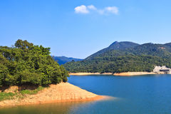 Lake landscape in Hong Kong Royalty Free Stock Photos
