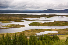 Lake landscape in Iceland. Royalty Free Stock Images