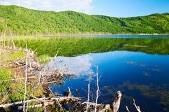 The lake landscape. The photo was taken in Arxan city Inner Mongolia Autonomous Region, China royalty free stock photos