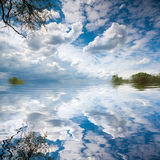 Lake landscape summer cloudscape Royalty Free Stock Photography