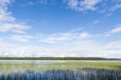 Lake landscape summer Finland Stock Photography