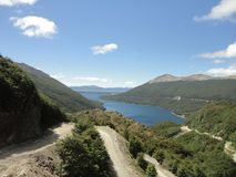 Lake and landscape from tierra del fuego Royalty Free Stock Photo