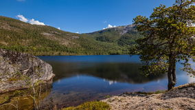 Lake landscape time-lapse Royalty Free Stock Photography