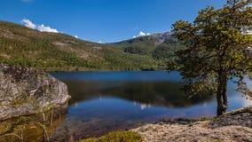 Lake landscape time-lapse stock video footage