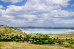 Lake Landscape View in Bulgaria Royalty Free Stock Photos