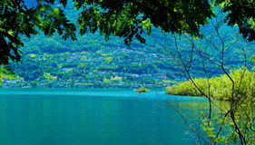 Lake Langensee in the city of Ascona, Switzerland. Lake Langensee in the city of Ascona, Switzerland Stock Photo