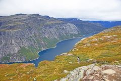 Lake in the language of the Troll. Norway royalty free stock photos