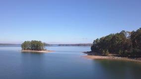 Aerial view of lake Lanier Georgia stock video footage