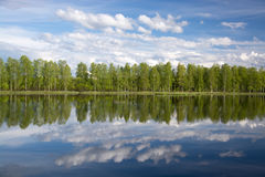 Lake in Lapland, Finland Stock Image