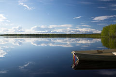 Lake in Lapland, Finland Royalty Free Stock Images