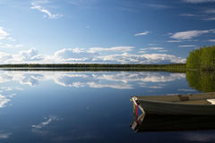 Lake in Lapland, Finland Royalty Free Stock Photography