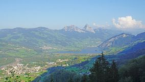 The Lake Lauerz in the Schwyz Alps royalty free stock photos