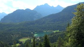 Lake Lauter, Mittenwald, Germany. Lautersee is a lake in Oberbayern, Bavaria, Germany stock video footage