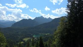 Lake Lauter, Mittenwald, Germany. Lautersee is a lake in Oberbayern, Bavaria, Germany stock footage