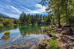 Lake Laux in Italian Alps. Stock Photo