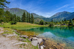 Lake laux and mountains. Royalty Free Stock Photo
