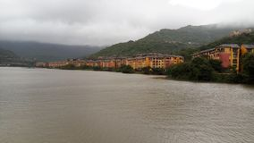 Lake lavasa city buildings tourist royalty free stock images