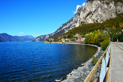 Lake Lecco in fall, Italy Royalty Free Stock Image