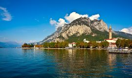 Lake Lecco, Lombardy, Italy. Italian village in Lecco Lake Lecco, Lombardy, Italy Stock Photos