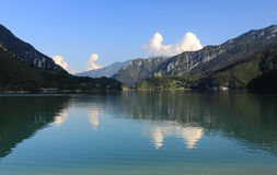 Lake Ledro in Italy. View of Lake Ledro in Italy Royalty Free Stock Photography