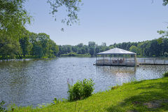 Lake with leisure pier Stock Photography
