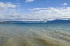 Lake leman. In geneva switzerland Royalty Free Stock Images