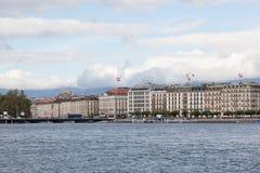 Lake Leman in Geneva Royalty Free Stock Photos