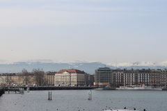 Lake Leman Geneve Royalty Free Stock Photos