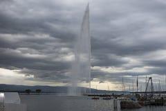 Lake leman. In the city of Geneva, Switzerland Royalty Free Stock Photos